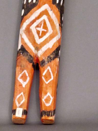 Charlie Willeto Folk Art Orange Figure with Reed in Mouth Charlie Willeto