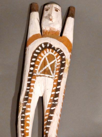 Charlie Willeto Navajo Folk Art Man with X on chest
