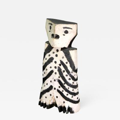 Charlie Willeto Owl Charlie Willetto Navajo Folk art wood black white vintage