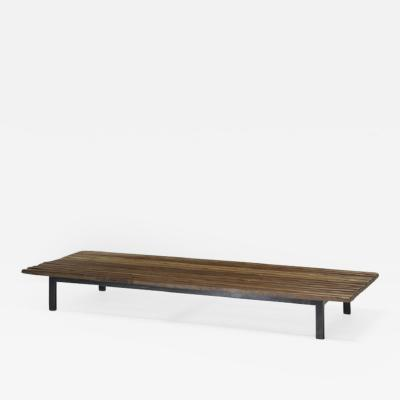 Charlotte Perriand Bench with wood beams ca 1958 France Galerie Steph Simon for Cit Cansado