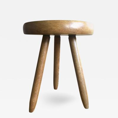 Charlotte Perriand Charlotte Perriand 1950s High Tripod Ash Tree Stool in Vintage Condition