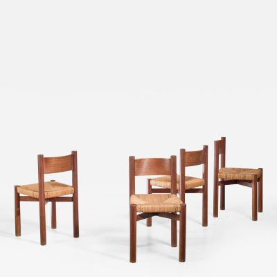 Charlotte Perriand Charlotte Perriand Dining Chairs France 1960s