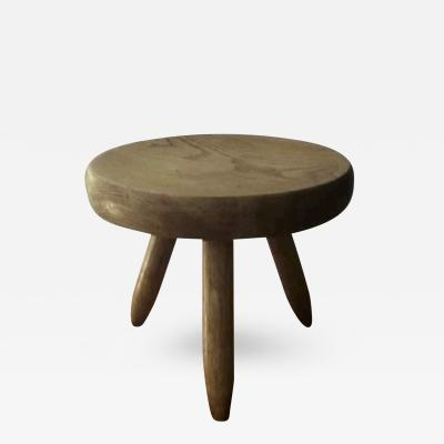 Charlotte Perriand Charlotte Perriand Genuine Ash Tree Tripod Stool in Vintage Condition