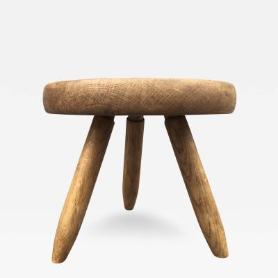 Charlotte Perriand Charlotte Perriand Genuine Tripod Ash Tree Stool in Vintage Condition