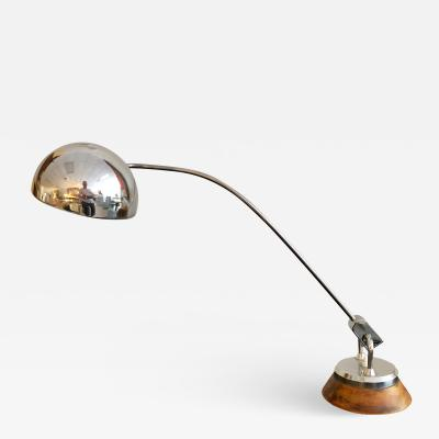 Charlotte Perriand Charlotte Perriand Leather and Chrome Desk Lamp