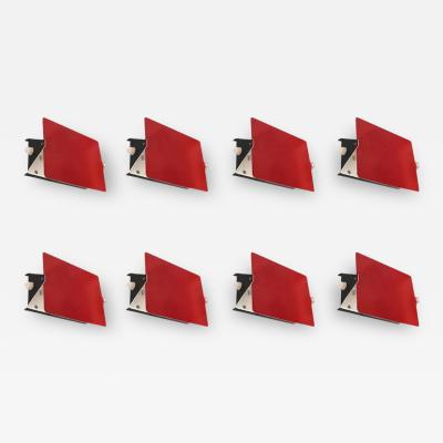 Charlotte Perriand Charlotte Perriand Suite of Eight Red Sconces Model CP1 Circa 1960 France