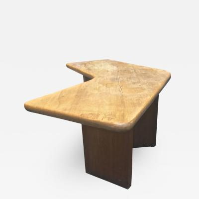 Charlotte Perriand Charlotte Perriand brutalist pine forme libre desk in vintage condition