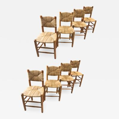 Charlotte Perriand Charlotte Perriand genuine rare set of 8 model Bauche chairs