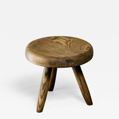 Charlotte Perriand Charlotte Perriand low ash tripod stool France