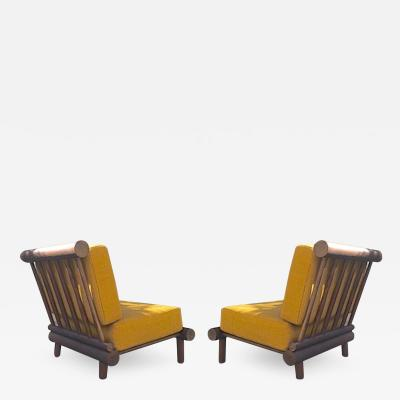 Charlotte Perriand Charlotte Perriand pair of chairs for hotel La Cachette Les Arcs