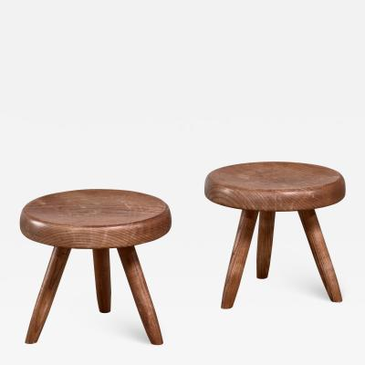 Charlotte Perriand Charlotte Perriand pair of low stools France