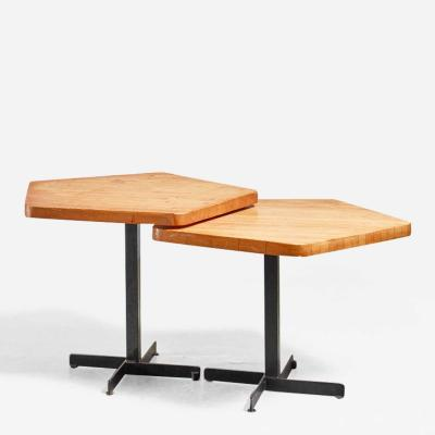 Charlotte Perriand Charlotte Perriand pair of pentagonal tables France 1960s