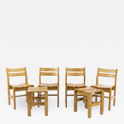 Charlotte Perriand Charlotte Perriand set de stools chairs