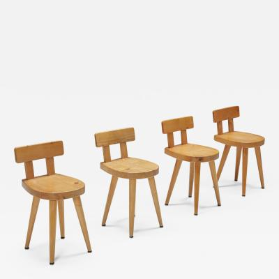 Charlotte Perriand Dining chair by Charlotte Perriand made for Les Arcs 1960s