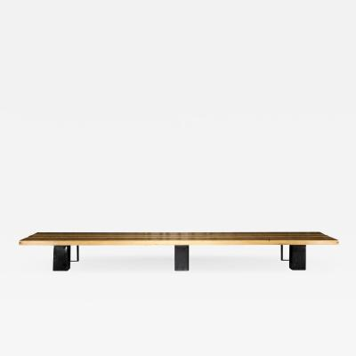 Charlotte Perriand Exceptional bench Charlotte Perriand les arcs Circa 1960
