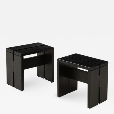 Charlotte Perriand Mid Century Les Arcs Stools by Charlotte Perriand France c 1960