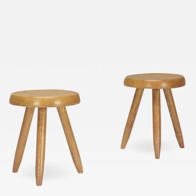 Charlotte Perriand Pair Charlotte Perriand Stools