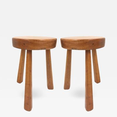 Charlotte Perriand Pair of Charlotte Perriand Stools for Les Arcs