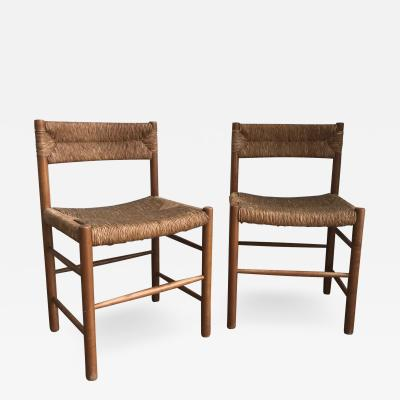 Charlotte Perriand Pair of Dordogne Chairs for Sentou 1950s
