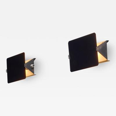 Charlotte Perriand Pair of early Charlotte Perriand CP1 enamel wall appliques