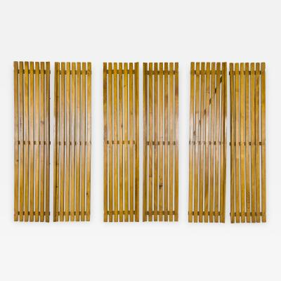 Charlotte Perriand Set of Three Pairs of Charlotte Perriand Slat Doors circa 1950 France