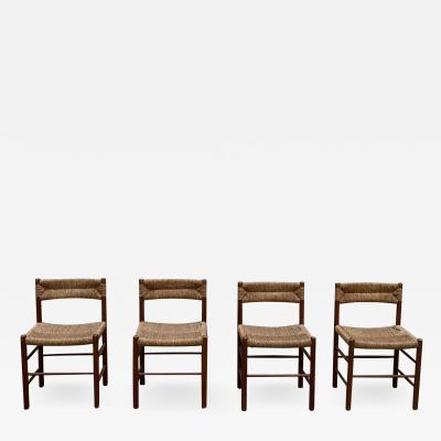 Charlotte Perriand Set of four Dordogne chairs for Sentou 1950s