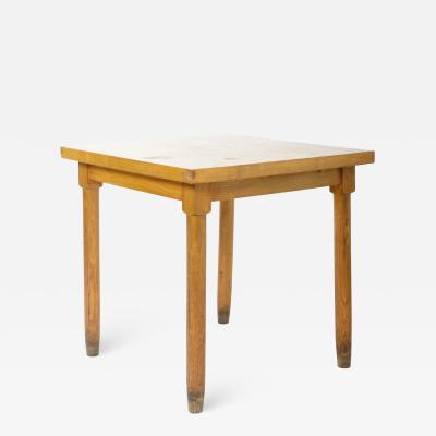 Charlotte Perriand Square Wooden Dining Table in the Style of Charlotte Perriand