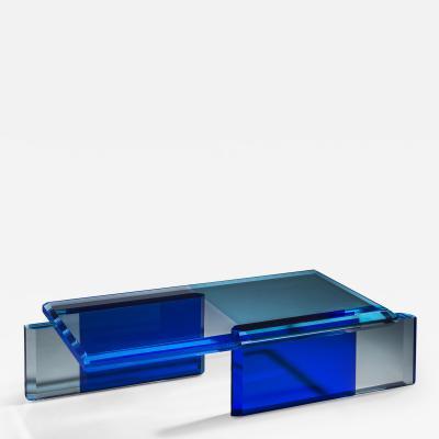 Charly Bounan Beautiful Blue Coffee Table by Charly Bounan