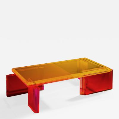 Charly Bounan Beautiful Unique Colorful Coffee Table by Charly Bounan