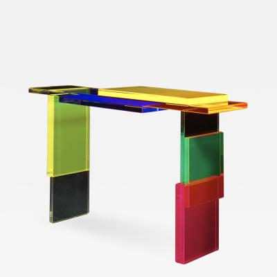 Charly Bounan Colorful Destructured Console Table by Charly Bounan