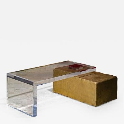 Charly Bounan Ghost Altuglas Coffee Table by Charly Bounan