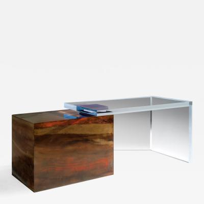 Charly Bounan Ghost Altuglas Desk by Charly Bounan
