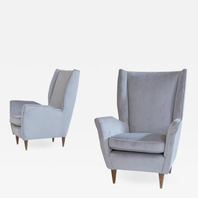 Charming Armchairs Attributed to Gio Ponti for ISA