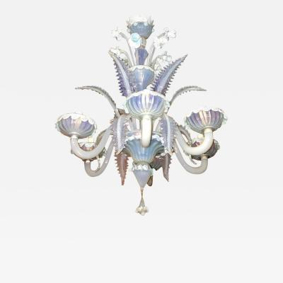 Charming Blue Murano Glass Chandelier Venice 1960