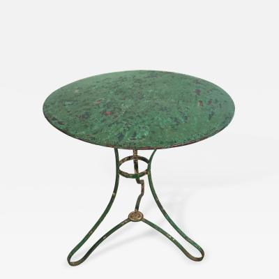 Charming French Wrought Iron Bistro Table