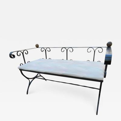 Charming Minimal Design Scroll Iron Bench