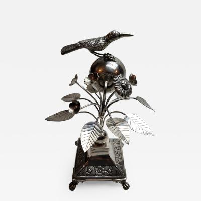 Charming Portuguese Silver Toothpick Holder