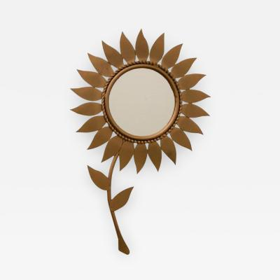 Chaty Vallauris French Midcentury Sunflower Mirror by Chaty Vallauris c 1950