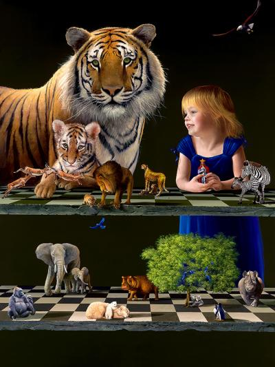 Check Mate Contemporary Giclee Painting by Dario Campanile