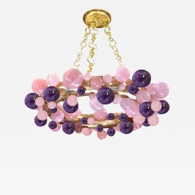 Cherry Blossom Bubble Ring Rock Crystal Chandelier by Phoenix