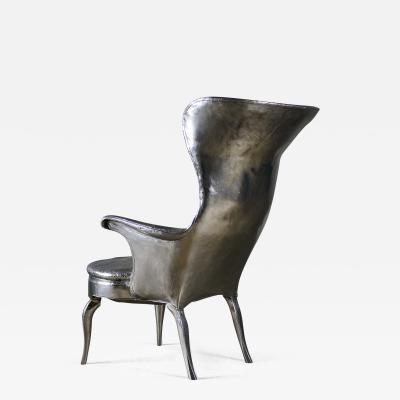 Cheryl Ekstrom Cheryl Ekstrom Frits Henningsen Stainless Steel Chair Sculpture