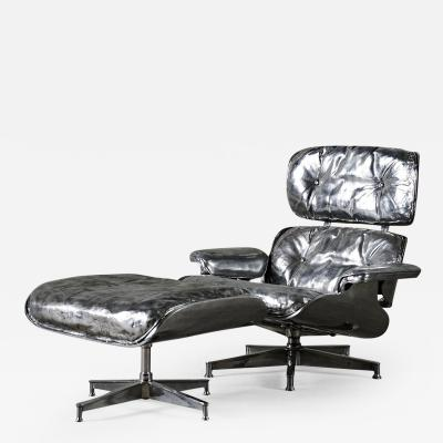 Cheryl Ekstrom Eames Lounge Chair and Ottoman Stainless Steel Sculpture