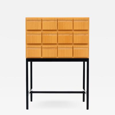Chest Of Drawers File Cabinet Ash Wood 1970s