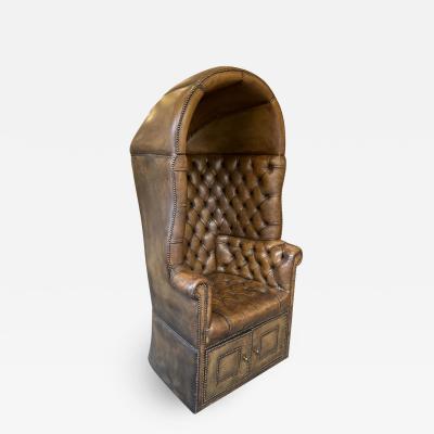 Chesterfield style Carrosse armchair circa 1950