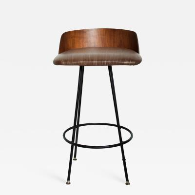 Chet Beardsley Mid Century Modern Walnut Bar Stool by Chet Beardsley