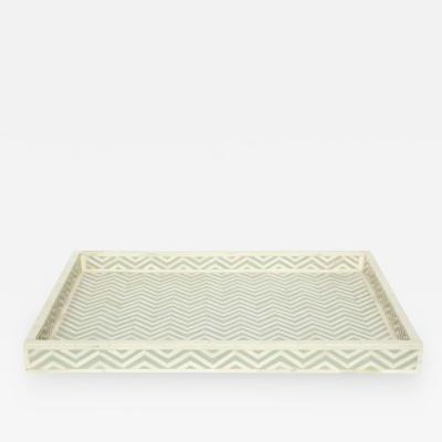 Cheveron Pattern Bone Tray