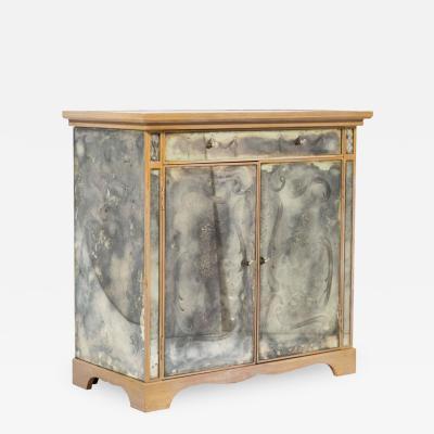 Chic Antique Mirrored Two Door Cabinet