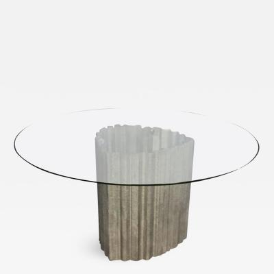 Chic Brutulist Dining Center Table by Max Papiri