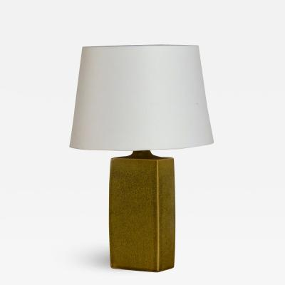 Chic Glazed Ceramic Lamp with Parchment Shade