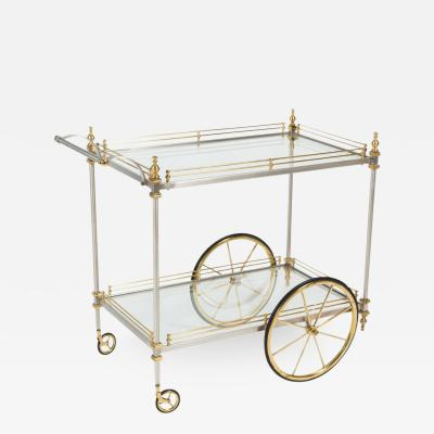 Chic Metal and Brass Tiered Drinks Trolley